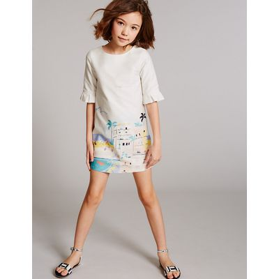 Autograph Pure Cotton Printed Dress (3-14 Years)
