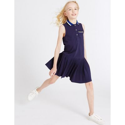 Pure Cotton Collared Neck Dress (3-14 Years)