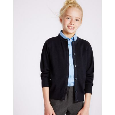 Girls' Wool Blend Cardigan