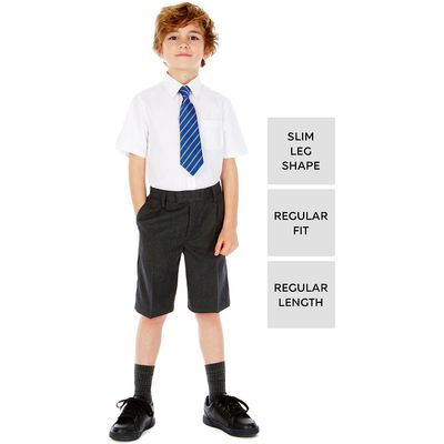 Boys' Slim Leg Pleat Front Shorts