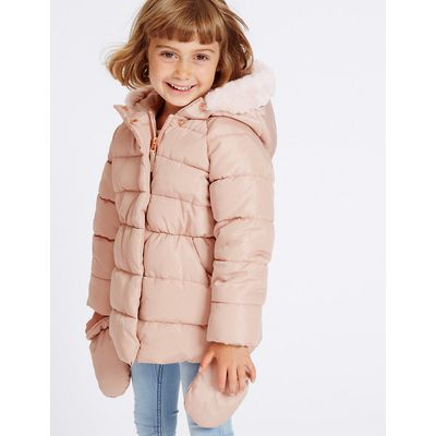 Faux Fur Padded Coat with Stormwear (3 Months - 7 Years)