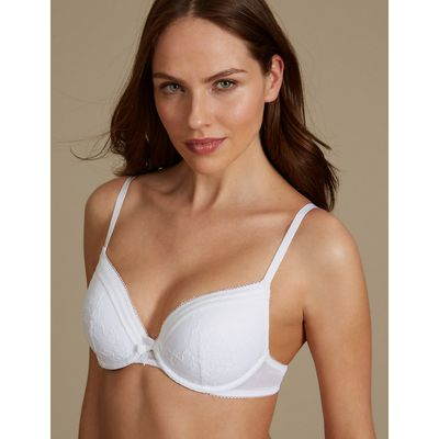 M&S Collection Lace Padded Plunge Bra A-E
