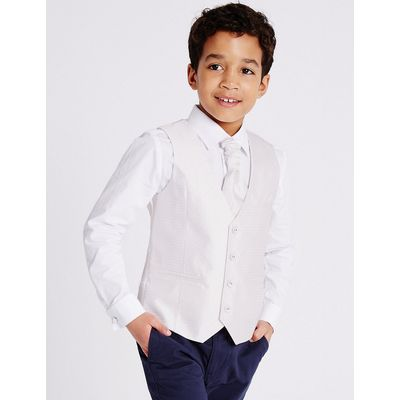 3 Piece Waistcoat & Shirt with Cravat Outfit (3-14 Years)