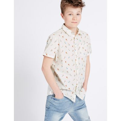 Pure Cotton Printed Shirt (3-14 Years)