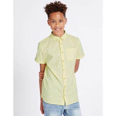 Pure Cotton Embroidered Shirt (3-14 Years)