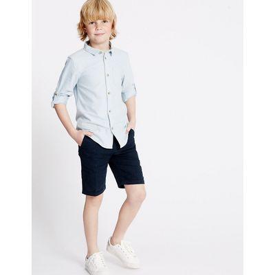 Linen Blend Shorts (1-14 Years)