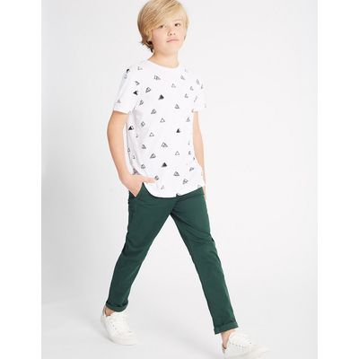 Cotton Chino Trousers with Stretch (3-14 Years)