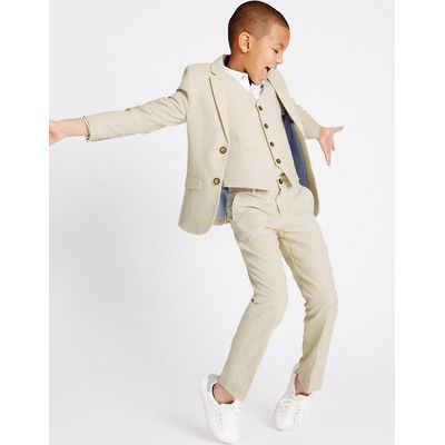 Linen Rich Trousers (3-14 Years)