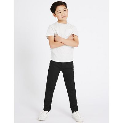 Cotton Slim Fit Jeans with Stretch (3-14 Years)
