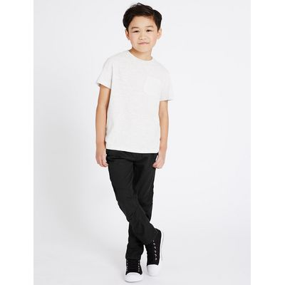 Pure Cotton Adjustable Waist Ripstop Lined Trousers (5-14 Years)