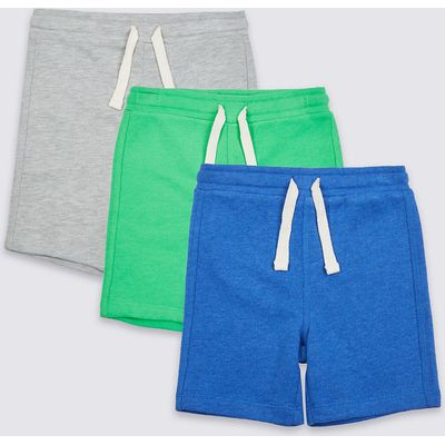 3 Pack Cotton Rich Shorts (3 Months - 5 Years)
