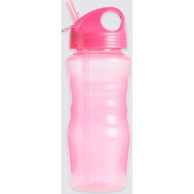 Kids' Clear Pink Water Bottle