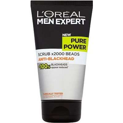 L'Oreal Paris Men Expert Pure Power Scrub x2000 Beads Anti-Blackhead 150ml