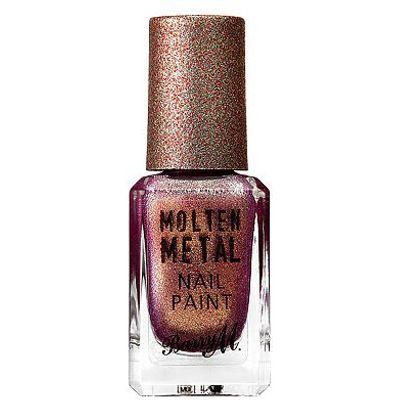 Barry M Molten Metal Nail Paint black diamond