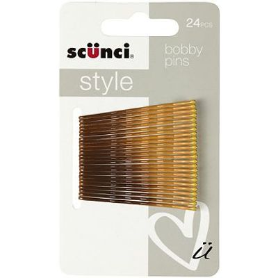 Scunci Style Ombre Bobby Pins 24pk Brunette/Blonde