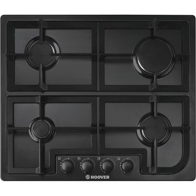 8016361815742 | Hoover HGH64SCB 4 Burner Gas Hob   Black