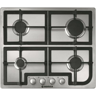 8016361815650: HOOVER  HGH64SCX Gas Hob   Stainless Steel  Stainless Steel