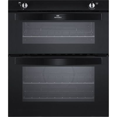 New World NW701G Gas Built under Twin Cavity Oven Black 5052263014787