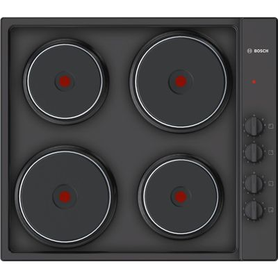 4242002938202 | BOSCH PEE686CA1 Electric Solid Plate Hob   Black  Black Store