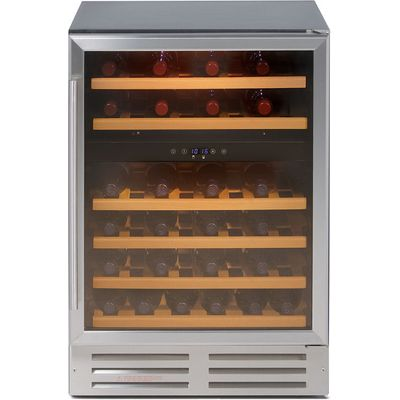 Stoves 600WC Mk2 46 Bottle 60cm Wine Cooler in Silver - 5052263009196