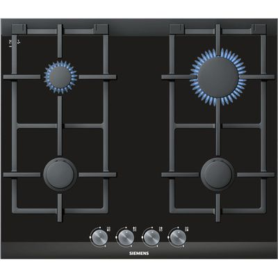 4242003601372 | Siemens ER626PB70E Gas Hob  Black Glass