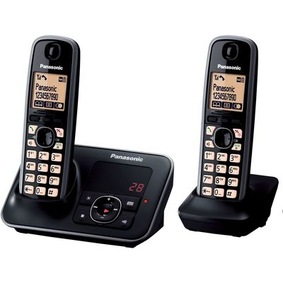 PANASONIC  KX TG6622EB Cordless Phone with Answering Machine   Twin Handsets - 5025232585366