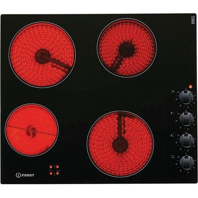 Indesit VRM640MC 4 Zone Ceramic Hob   Black 8007842740660