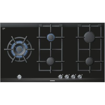 Siemens ER926SB70E gas hobs  in Black   Brushed Steel - 4242003601617