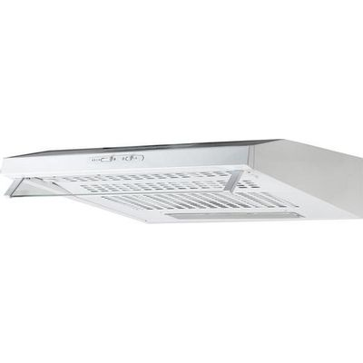 5017416540889 | ESSENTIALS  C60SHDW15 Visor Cooker Hood   White  White Store
