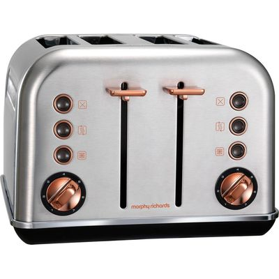 5011832057983 | MORPHY RICHARDS Accents 102105 4 Slice Toaster   Brushed Stainless Steel   Rose Gold  Stainless Steel Store