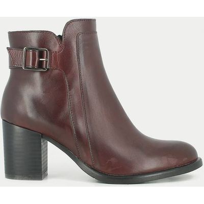 Tulia Heeled Leather Ankle Boots