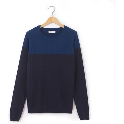 Two-Tone Crew Neck Jumper, 10-16 Years