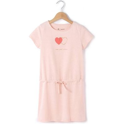 Intertwined Hearts Short-Sleeved Dress, 3-12 Years