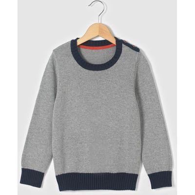 Long-Sleeved Plain Cotton Jumper, 3-12 Yrs