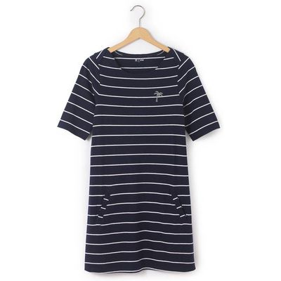 Short-Sleeved Striped Dress, 10-16 Years