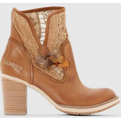 BUNKER GRACE Leather Ankle Boots