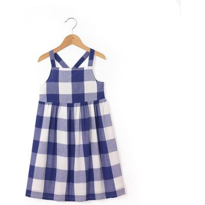 Strappy Checked Dress, 3-12 Years
