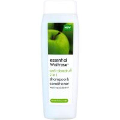essential Waitrose anti-dandruff 2 in 1 shampoo & conditioner