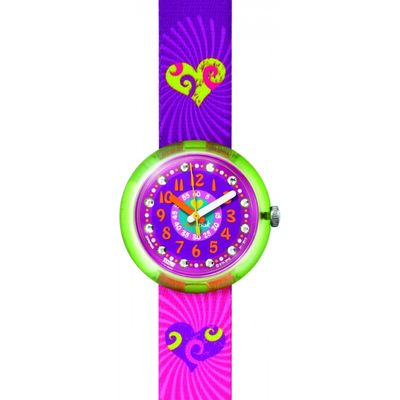 Childrens Flik Flak Green Splashy & Flashy Watch