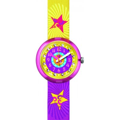 Childrens Flik Flak Pink Splashy & Flashy Watch