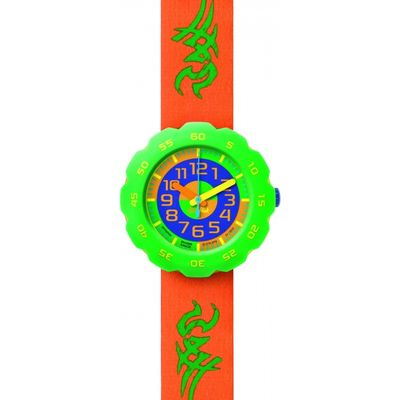 Childrens Flik Flak Boy In Orange Watch