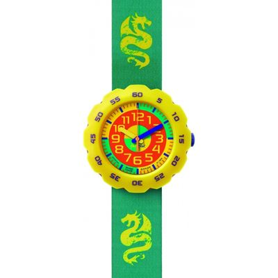 Childrens Flik Flak Boy In Spring Green Watch