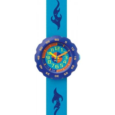 Childrens Flik Flak Boy In Turquoise Watch