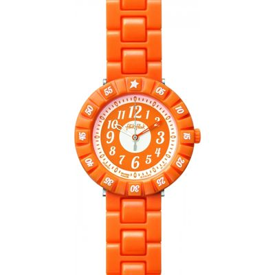 Childrens Flik Flak Orange Colour Shake Watch