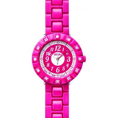 Childrens Flik Flak Rubine Colour Shake Watch