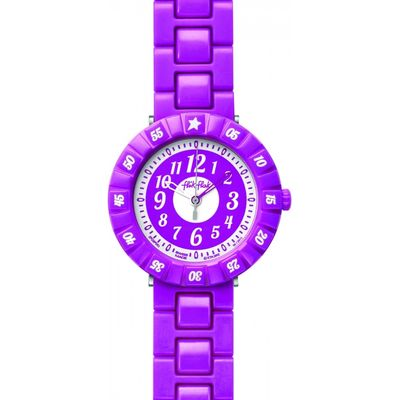 Childrens Flik Flak Purple Colour Shake Watch