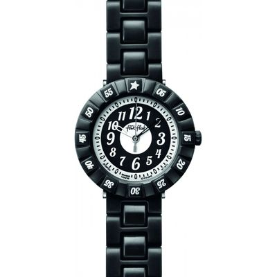 Childrens Flik Flak Black Colour Shake Watch