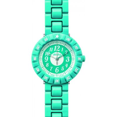 Childrens Flik Flak Turquoise Colour Shake Watch