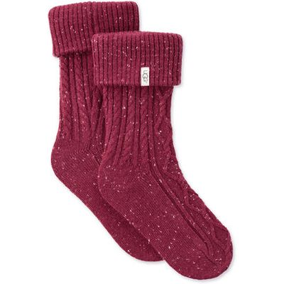 UGG Sienna Short Rain Boot Sock Womens Cold Weather Accessories Garnet