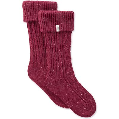 UGG Shaye Tall Rain Boot Sock Womens Cold Weather Accessories Garnet
